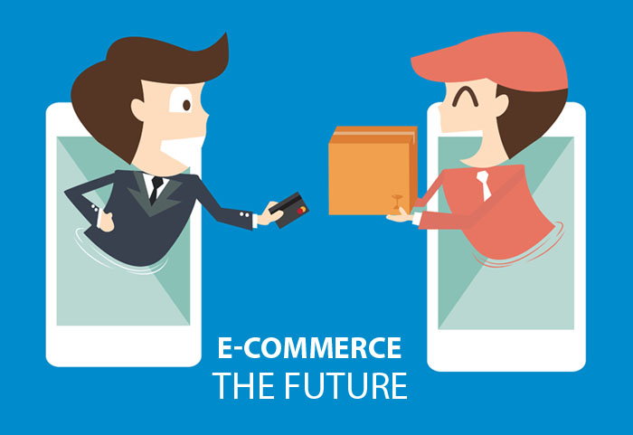 e-commerce on mobile - businessman payments from credit card on the screen
